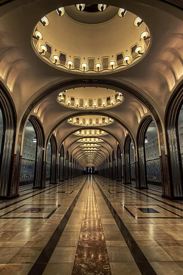 Picture of a long hallway